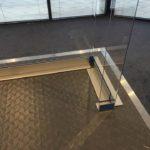 Aluminium Trim Fitting In Action - Receptionist Side