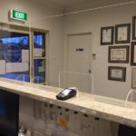 Flat Pack Sneeze Guards / Plastic Screens with EFTPOS access
