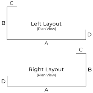 Plastic Screens Type 1 Dimensions Diagram