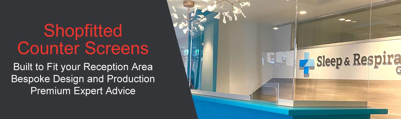Shopfitting Counter and Reception Screens